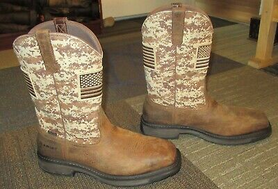 b05210493e7 MENS ARIAT WORKHOG Patriot Steel Toe Leather Work Boots sz 14 EE