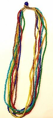 Chakra Beaded Necklace Set Rainbow Beads 🌈 Healing Root Crown SolarPlexus Heart