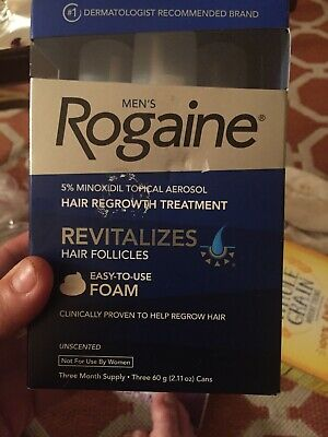 Mens Rogaine Unscented Foam 3 Month Supply. Best Buy Date 1/19 Or Later