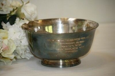 Tiffany Silverplate Bowl Race for the Cure 1993 Central Park NY 3rd Place