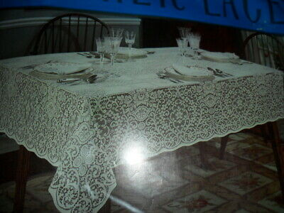 """Vintage Quaker Lace Blue Ribbon Collection """"Jubilee"""" Tablecloth. Never Used!!"""