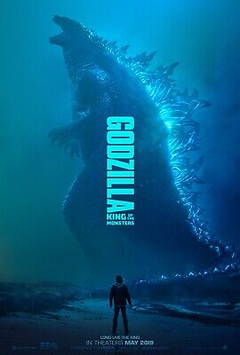 """GODZILLA KING OF THE MONSTERS 2019 Advnace Ver A DS 2 Sided 27x40"""" Movie Poster"""