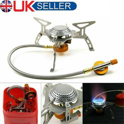 3500W Portable Outdoor Camping Hiking Gas Stove Folding Cooking Burner Box New