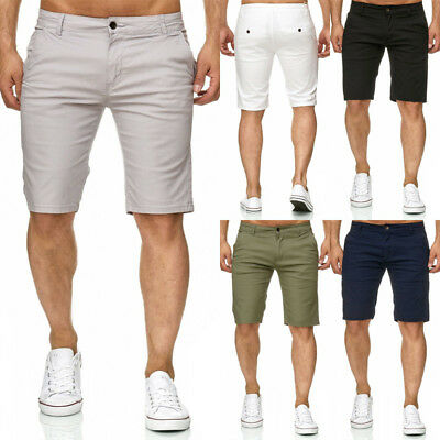 Men's Shorts Slim Fit Stretch Flat Front Summer Casual Pants Trousers S-2XL