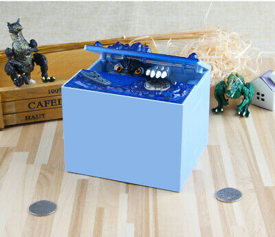 Electronic Coin-Money Piggy Bank Box Automatic Stealing Coin Godzilla-Moving Box