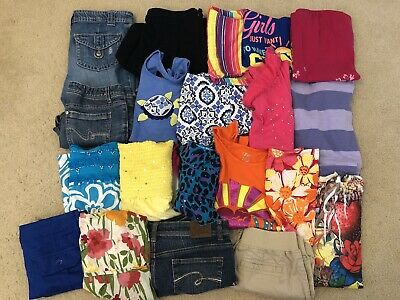 ac4e9bcd1c07 HUGE LOT 38PC Girls Size 7/8 Summer Clothes Tops Outfits Justice Gap ...