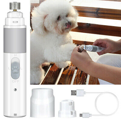 USB Electric Pet Nail Grinder Paws Grooming Trimmer Cut Dog Cat Clipper Tool