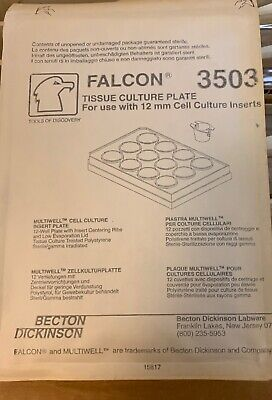 50 X BECTON DICKINSON 3503 TISSUE CULTURE PLATE 12mm Cell Culture Inserts