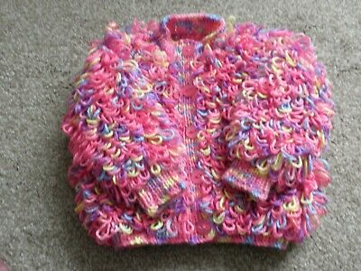 Baby Loopy Cardigan in Pink Mix 6 - 12 months