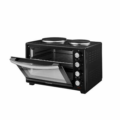 Mini Oven With Hob Hotplate Electric 1600W 30L Cooker Baking Cooking Roast New