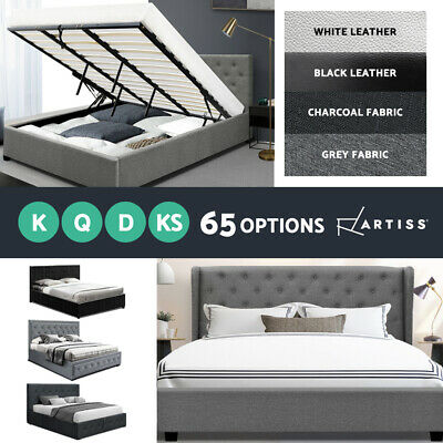 Artiss Bed Frame Single Double Queen King Size Gas Lift Base With Storage