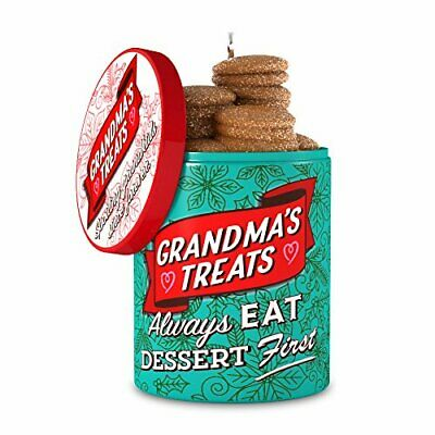 Hallmark Keepsake Christmas Ornament 2018 Year Dated, Grandma's Cookie Jar