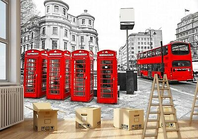 LONDON RED BUS AND TAXI CAR 3D PICTURE 300mm X 400mm NEW