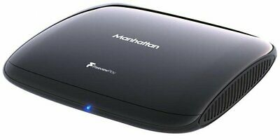 Manhattan T3 Freeview Play 4K Smart Box HDR WiFi Television Accessory Black