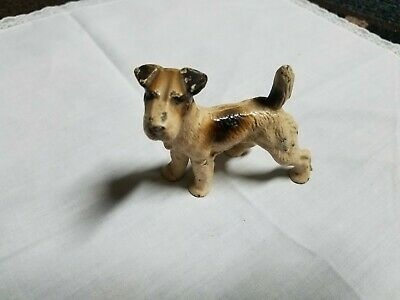 Antique Hubley Cast Iron Fox Terrier Figural Dog Paperweight Decorative