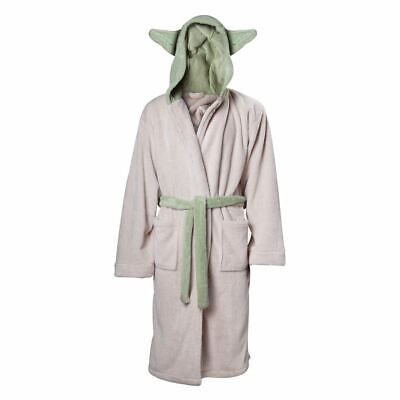 Star Wars Master Yoda Cream Dressing Gown with Ears - Ons Size Adult Teens