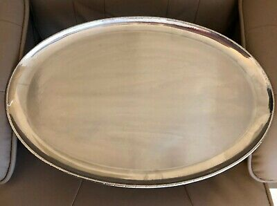 Keswick School Industral Arts Large Firth Staybrite Oval Roped Edge Tray.