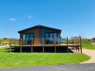 HUGE luxury lodge for sale. glass decking included and FREE site fees and rates