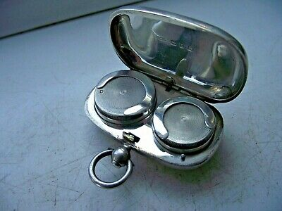 Victorian 1898 Sterling Silver Hallmared Double Sovereign Case Blank Excellent