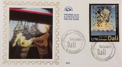 France Silk Fdc Salvador Dali Painting