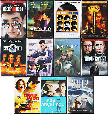 John Cusack bundle (10 DVD) Better Off Dead Serendipity Say Anything Con Air +++