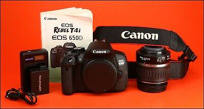 Canon EOS 650D DSLR Camera + EF-S 18-55mm Zoom Lens kit With ONLY 78 Shots