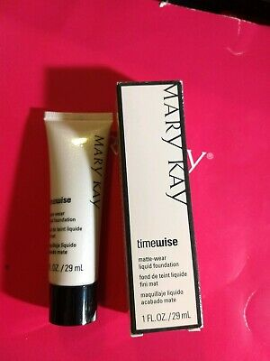Mary Kay Matte Wear Foundation Ivory 5 Nib Look Read
