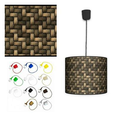 Ceiling Lampshade Lightshade/Chandeliers Cylinder Drum 30cm + Light Cable WICKER