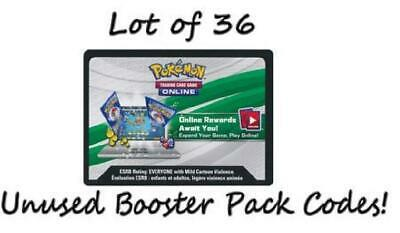 XY Primal Clash Lot of 36 Unused Booster Pack Codes (Pokemon TCGO) New 1TW
