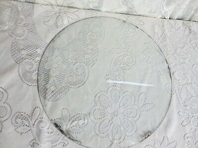 """Vintage Round Convex Bubble Glass for Picture Frame 18"""" Diameter"""