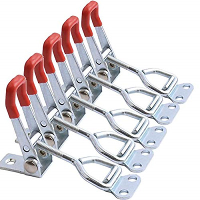 100Kg 220lbs Holding Capacity Toggle Latch Clamp Carbon Steel Plating 5 Pack New