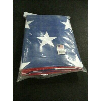 G128 American, US, Flag 10x15ft Embroidered Stars, Sewn Stripes, Brass Grommets