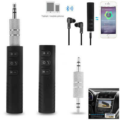 mini Wireless Bluetooth Car Kit AUX Audio Receiver Hands free 3.5mm Jack tool