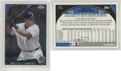 2009 Topps Chrome #91 Miguel Cabrera Detroit Tigers Baseball Card