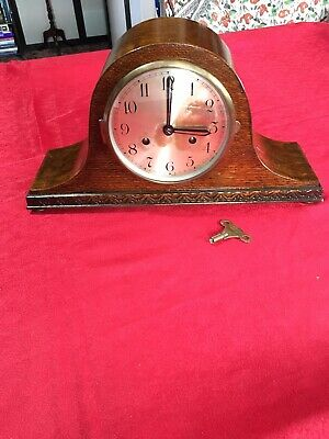 "Mantle Clock:Vintage British Made ""Widex"" Napoleon Shaped 2 Keyhole Clock"