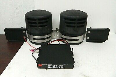 Federal Signal Rumbler Siren & Speaker Intersection Clearing System 82831059