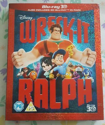 Disney Classic No.51 Wreck it Ralph 3D & Bluray 2 Disc In Slip Cover