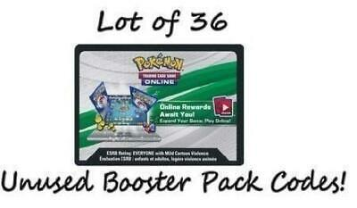 XY Fates Collide Lot of 36 Unused Booster Pack Codes (Pokemon TCGO) New 1TW