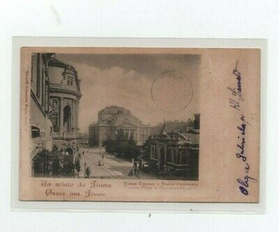 Fiume 19/1/1930 Postcard From Fiume To Gerovo/Croatia, Rare Postmark On Front
