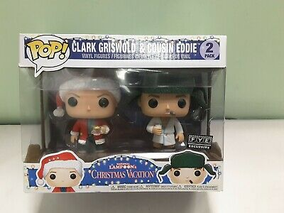Funko Pop! CHRISTMAS VACATION Clark Griswold & Cousin Eddie 2 Pack FYE Exclusive