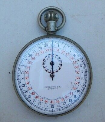 Antique Edwardian Swiss Findlay & Co London Stopwatch~Secondary Dial~Working
