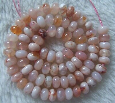 4x7mm Natural Pink Sakura Agate Rondelle Loose Beads 15.5Inch