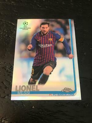 2018-19 Chrome Champions League Lionel Messi Refractor Base Card Fc Barcelona
