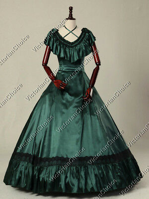 Victorian Edwardian Old West Saloon Gown Vintage Dress Theater Clothing 127 XXXL