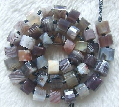 7x9mm Natural Persia Agate Faceted Column Loose Beads 15.5Inch
