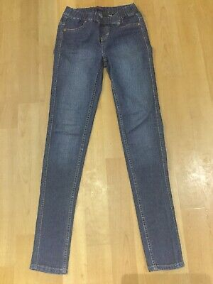Next Mid Blue Super Skinny High Waisted Jeggings Size 8 Long Gc