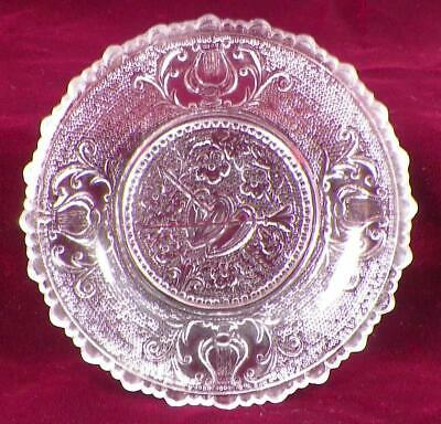 Antique Sandwich Glass Cup Plate Hearts Valentine 440-B LR Clear Stippled