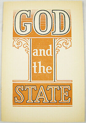 God and the State 1941 booklet single color cover Watchtower Jehovah