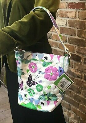 New Vera Bradley Sateen Limited Edition Julie Bag Purse Butterflies Turtles