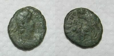 ANCIENT ROME :  BRONZE COIN 4th Century A.D.  #22